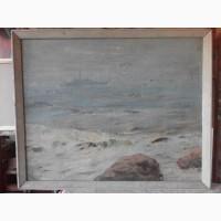 Продам советскую живопись, картина Северные границы, Николай Хан