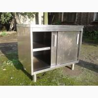 Стол разделочный с дверками б/у, нержавеющий стол б у, стол