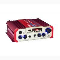Усилитель UKC AV-206U - Bluetooth, USB, SD, FM, MP3! 300W + 300W Караоке 2х канальный