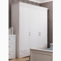 Шкаф белый гардеробный Бланка