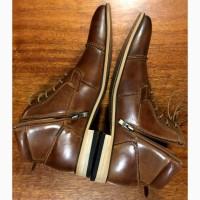 Коричневые полуботинки (ботинки, туфли, оксфорды)