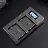 Скоростное двухканальное зарядное устройство для аккумулятора Sony NP-FW50 с дисплеем