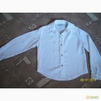 Белая блузка для девочки 5-8 лет