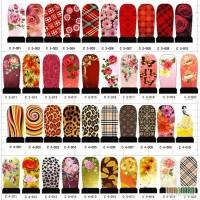 Наклейки для ногтей с пилочкой, дизайн цветной