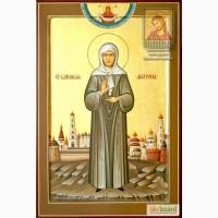 Святая Матрона Московская - уникальная рукописная икона в наличии