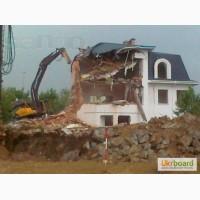 Демонтаж зданий сараев гаражей вывоз на свалку