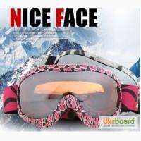Маска горнолыжная/лыжные очки Nice Face 9017 Pink