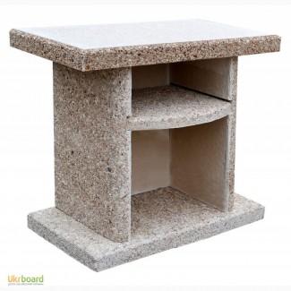 Стол приставной к барбекю мрамор (гранит)