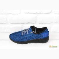 Мужские кроссовки Adidas Yeezy Boost (Blue Grey)