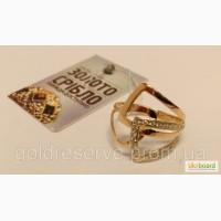 Золотое кольцо с камнями. Вес 3, 8 грамм