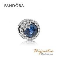 PANDORA шарм ― голубая ослепительная снежинка 796358NTB