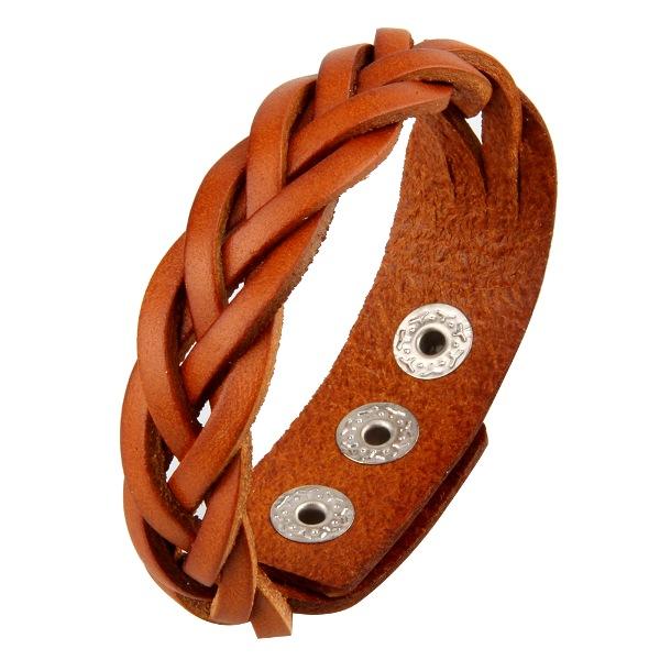 Фото 1/4. Продам кожаный плетеный браслет