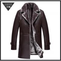 Продам куртку мужскую кожаную на меху удлиненную