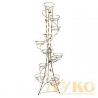 Спираль 12 ЭЛЕМЕНТОВ витая - кованая подставка для цветов на 12 вазонов