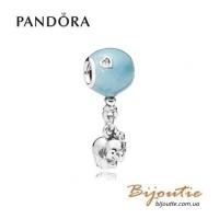 PANDORA Шарм-подвеска ― слоник на голубом шаре 797239EN169