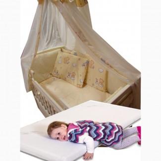 Акция! Набор в кроватку с матрасом Элит. Бельё + матрас + подарок