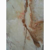 Оникс - прозрачный элемент декора Слябы из оникса; Слэбы оникса на складев Киеве