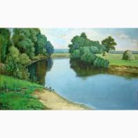 Картина художника Михайла Позивайло 1986г. масло холст 93х57 см