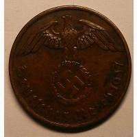 Германия 2 пфеннига 1937 А год