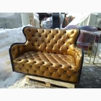 Золотой диван, кож.зам, велюр, бордо