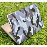 Военный Чехол для MacBook 2020 13.3 Air/Pro M1 с камуфляжным принтом Хаки пластиковый