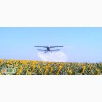 Обработка подсолнечника фунгицидами с кукурузника и вертолета