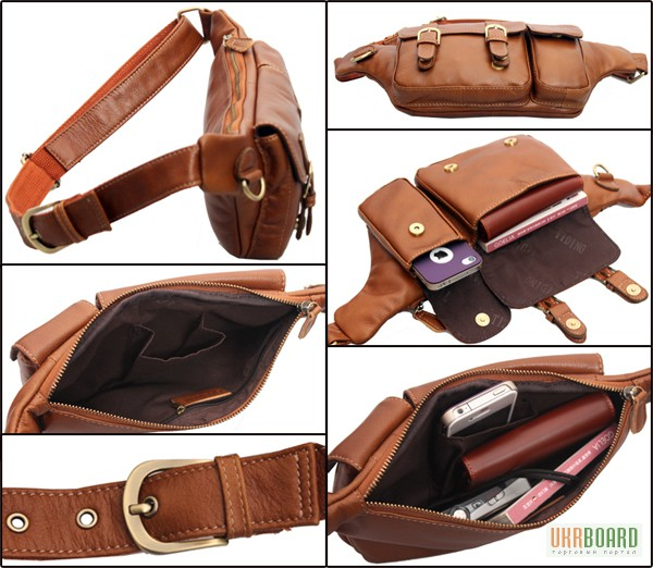 Фото 4. Продается мужская кожаная сумка на пояс из натуральной кожи теленка высшего качества