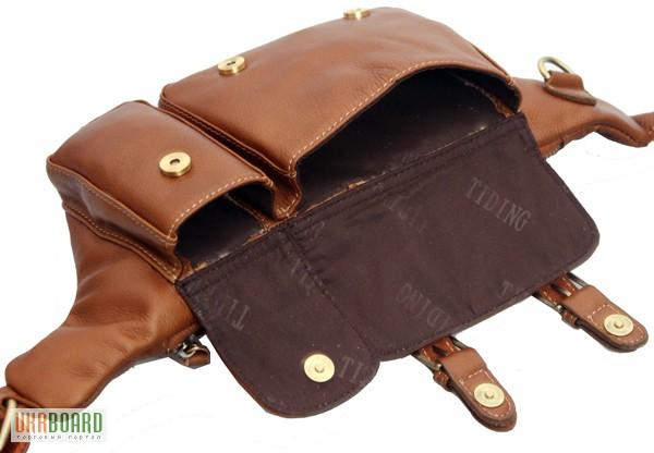 Фото 7. Продается мужская кожаная сумка на пояс из натуральной кожи теленка высшего качества