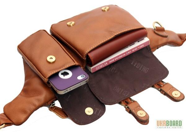 Фото 9. Продается мужская кожаная сумка на пояс из натуральной кожи теленка высшего качества