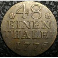 Германия 1/48 талера 1776 год СЕРЕБРО!!! ОТЛИЧНЫЙ СОХРАН!!! РЕДКАЯ