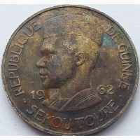 Гвинея 10 франков 1962 год НЕ ЧАСТАЯ