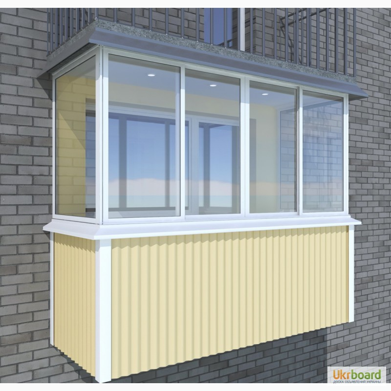 Фото 3. Профнастил для балкона, метлопрофиль продам