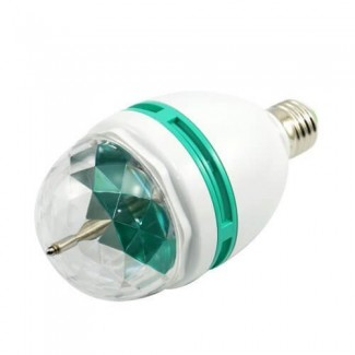 Продам вращающуюся разноцветную лампу LED E27 3W