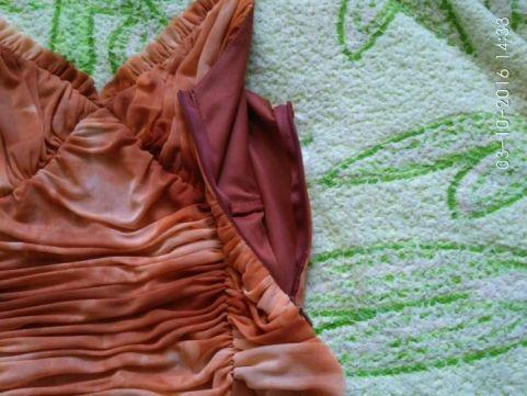 Фото 3. Платье с шарфиком коричневое