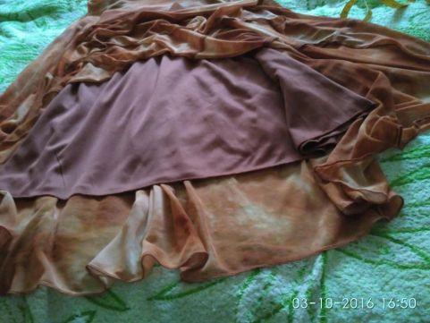 Фото 7. Платье с шарфиком коричневое