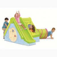 Игровой домик с горкой Funtivity Playhouse Allibert, Keter