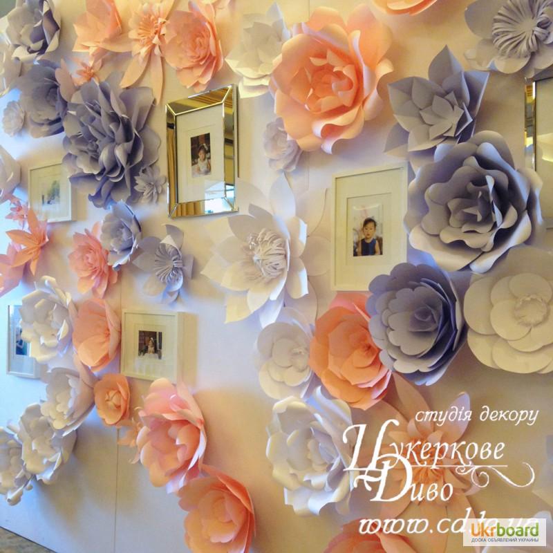 Цветы в декоре стен своими руками 521