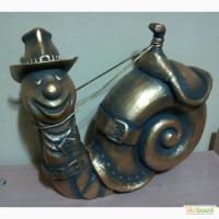 Декоративная интерьерная скульптура - Ковбой улитка
