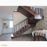 Лестницы из натурального дерева на металлокаркасе