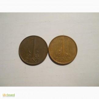 Нидерланды-1 цент (2 разные)