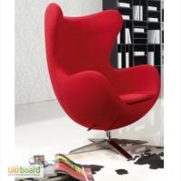 Кресло EGG (ЭГГ) шерстяная ткань, дизайнерское кресло Яйцо шерсть купить Киев Украина