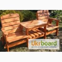 Деревяні столи, лавочки, бесідки