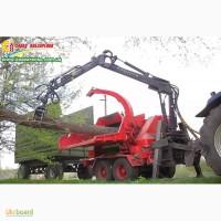 Щепорез – измельчитель древесины с манипулятором Biber 80. Щеподробилка профессиональная