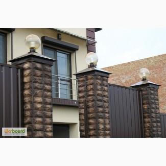 Крышки металические на заборные столбы