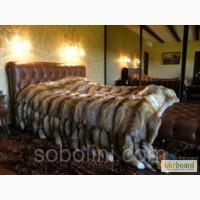 Королевские спальни! Меховое покрывало из лисы с хвостиками