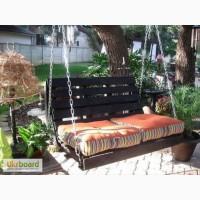 Деревянная садовая качель (гойдалка)