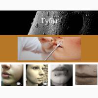 Студия красоты предлагает современный пирсинг: ушей, бровей, нос, пупок