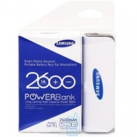 Power Bank Samsung 2600 mAh белый