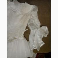 Белое нарядное платье для девочки, 134-140