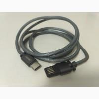 USB кабель Remax Silver Serpent RC-080a Type-C Металлический USB Type-C Быстродействующий